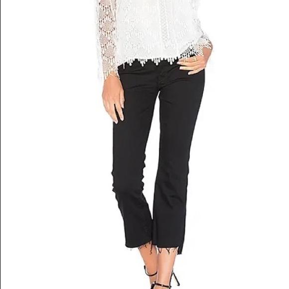 Mother Insider Crop Step Fray Jeans sz 27